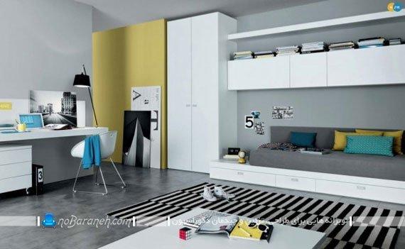 طراحی دکوراسیون دانشجویی اتاق خواب