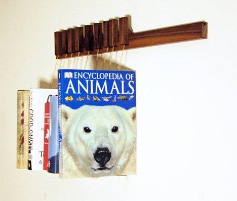 کتابخانه خانگی چوبی و کمجا