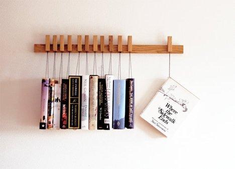کتابخانه خانگی دیواری با طرح و مدل ساده و نوآورانه