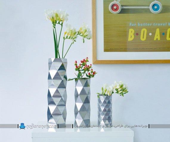 گلدان های بزرگ و کوچک شیک