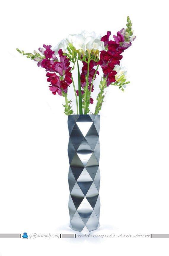 گلدان فلزی و استیل رومیزی
