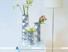 گلدان گل تزیینی رومیزی