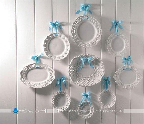 تزیین دیوار اتاق عروس با ظروف چینی