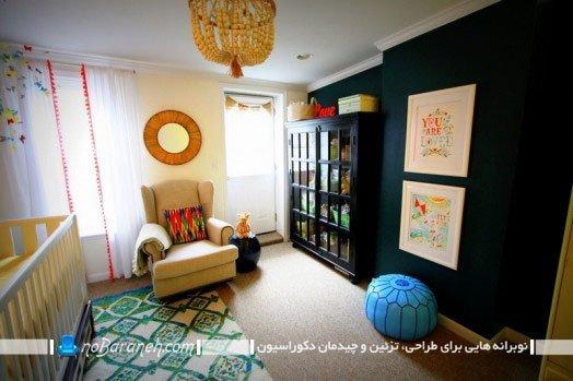 رنگ بندی دیوار اتاق نوزاد
