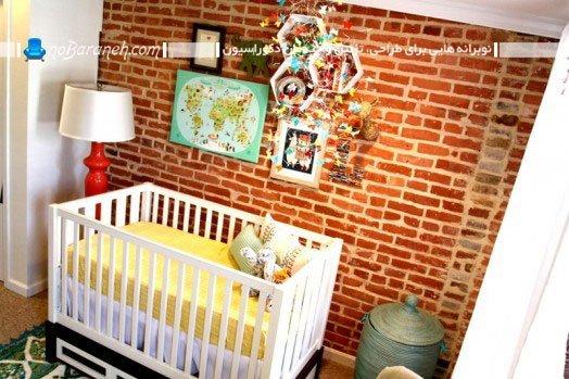 دیوارپوش آجری اتاق نوزاد
