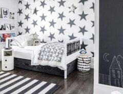 اتاق کودک سیاه سفید