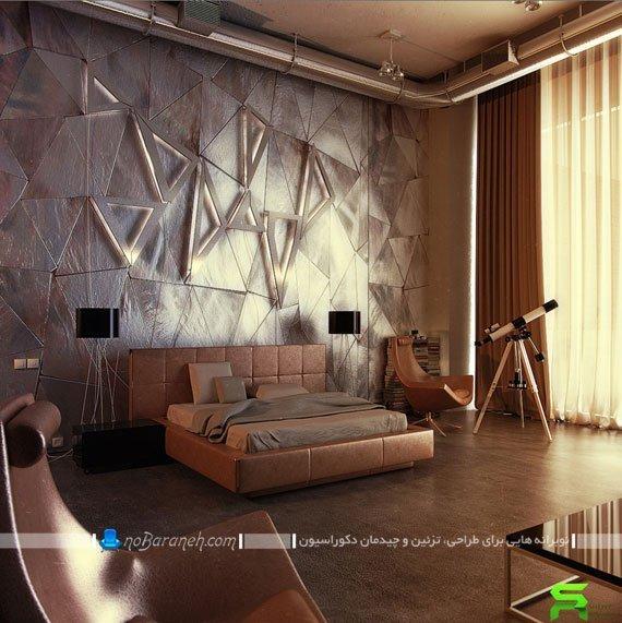 تزیین دیوار و نورپردازی اتاق خواب