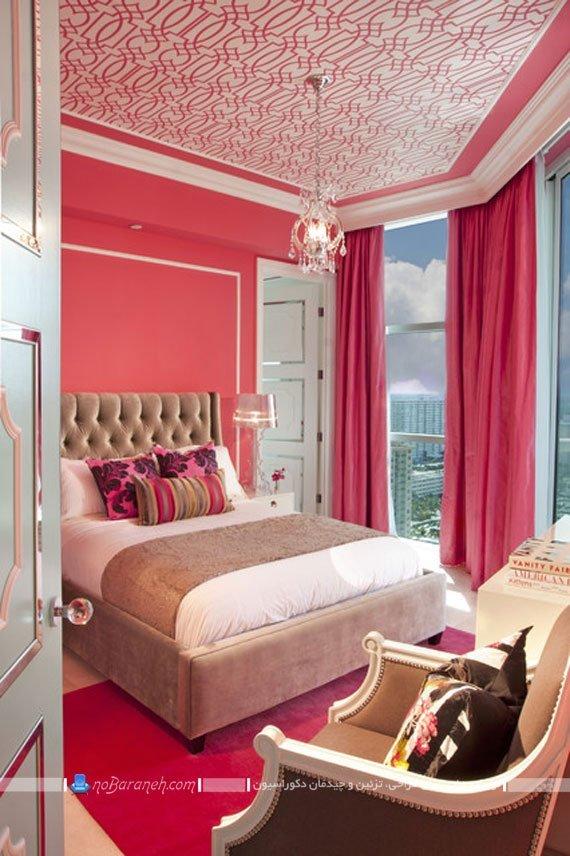 تزیین دخترانه اتاق خواب نوجوانان با رنگ صورتی