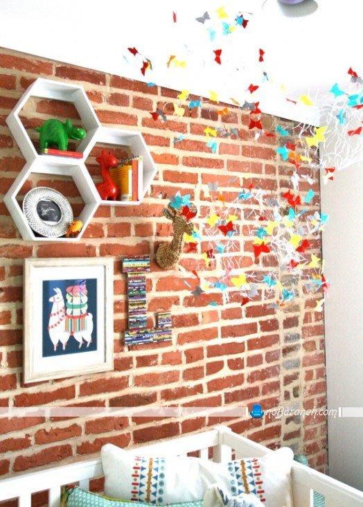 تزئین دیوار اتاق خواب نوزاد