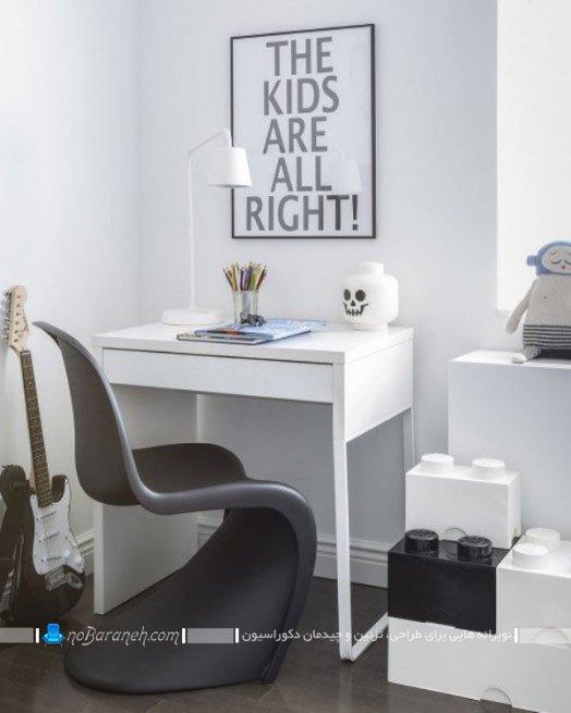دیزاین اتاق بچه با سیاه و سفید