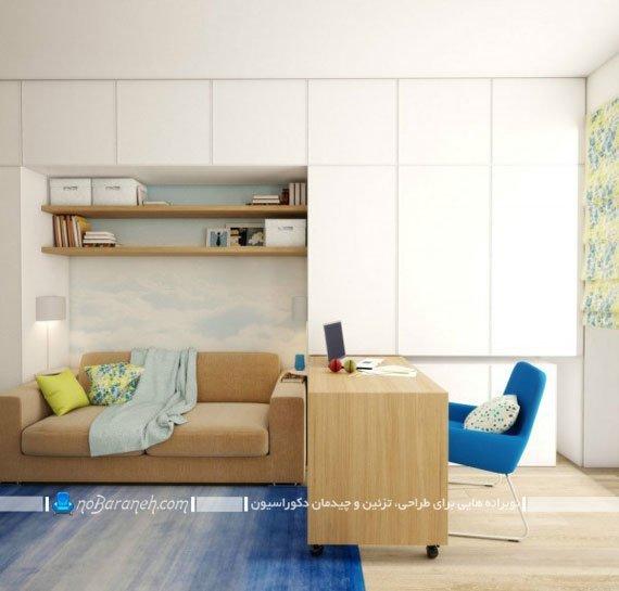 مدل میز تحریر و صندلی کمجا و کشویی