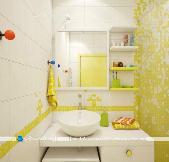 مدل های قفسه بندی و کابینت حمام و دستشویی