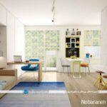 طراحی دکوراسیون خانه آپارتمانی کوچک با چیدمان زیبا