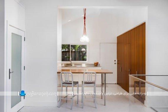 میز اپن کوچک چوبی و فلزی