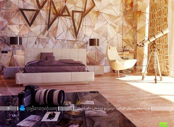 دیوارپوش مدرن اتاق خواب