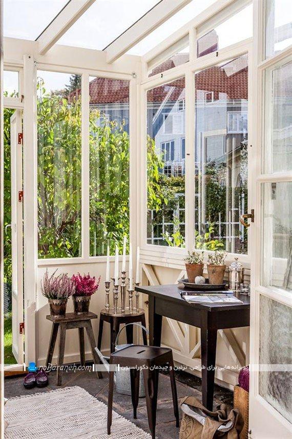 محوطه سازی زیبا در حیاط منزل
