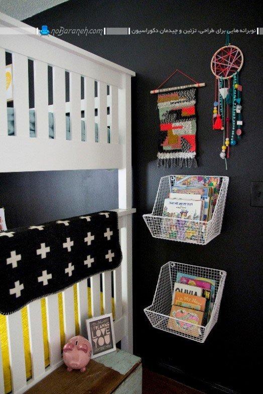 تزیینات ساده و ارزان قیمت دیوار اتاق خواب کودک