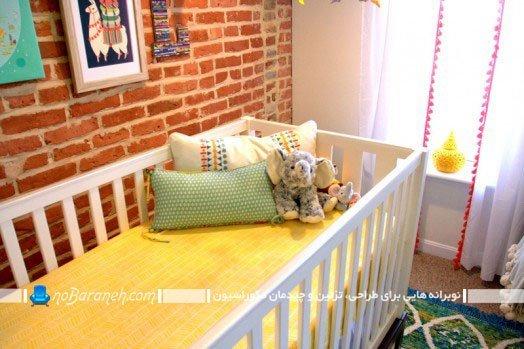 مدل تخت خواب سفید نوزاد