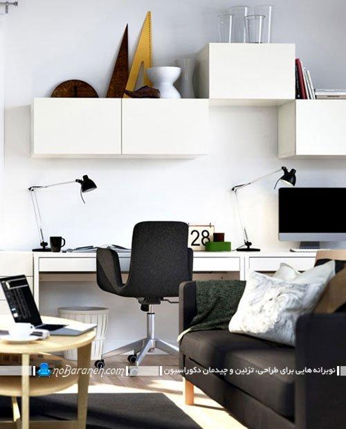 باکس بندی فضای بالای میز کامپیوتر