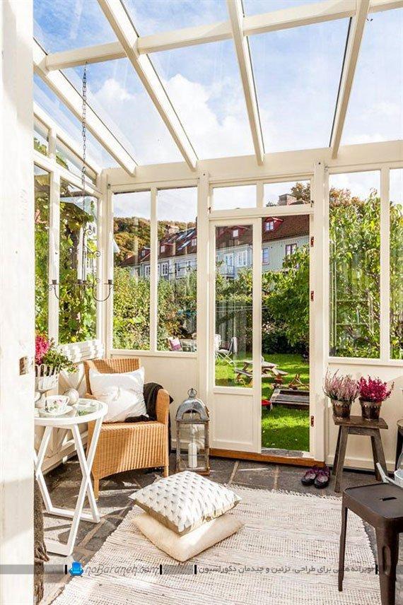 ساخت اتاقک شیشه ای در حیاط خانه ویلایی