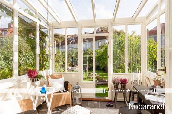 طراحی و ساخت اتاقک شیشه ای در فضا خارجی خانه ویلایی
