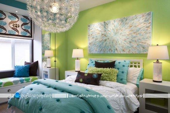 تزیین اتاق خواب دخترانه با سبز و آبی