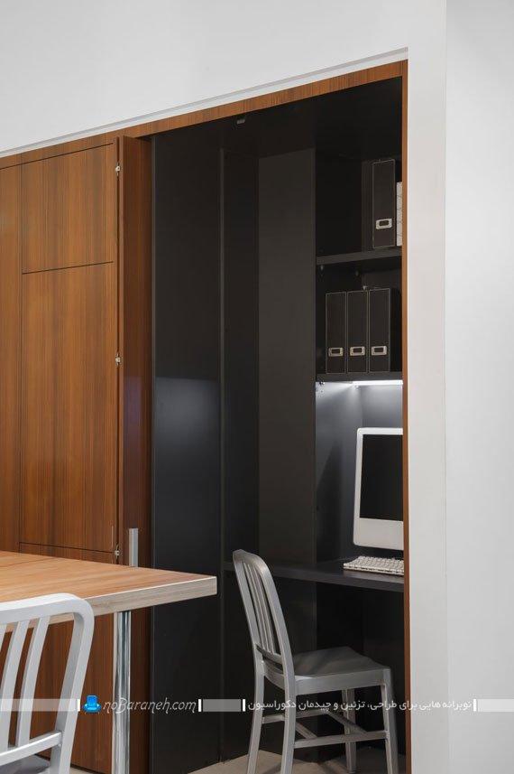 جاسازی میز تحریر و کامپیوتر در آشپزخانه