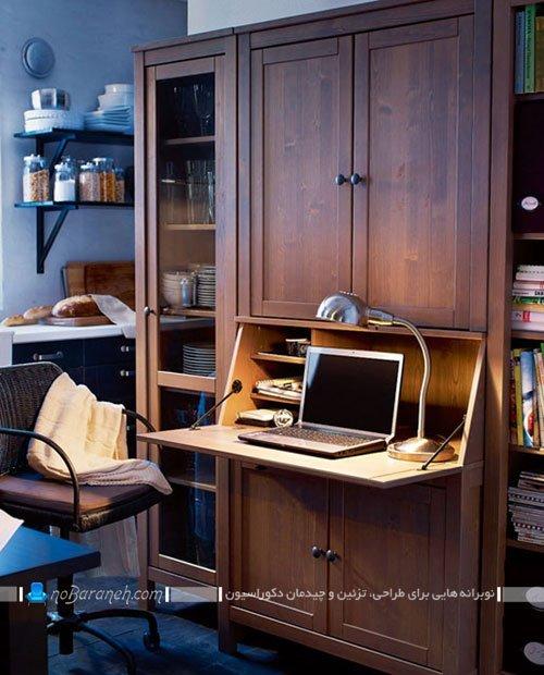 میز تحریر و کامپیوتر تاشو و کمجا