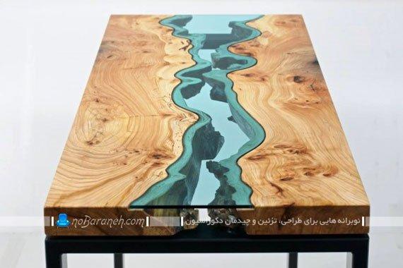 میز تزیینی با نمای جغرافیایی