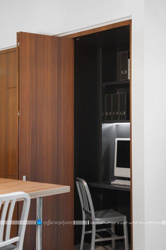طراحی اتاق کار اداری دنج در آشپزخانه