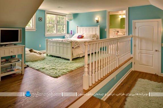 اتاق خواب کودک با طراحی و معماری دوبلکس