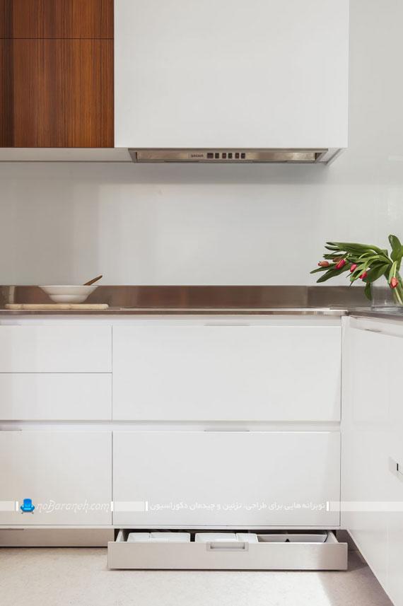 تزیین پارکینگ خانه کابینت آشپزخانه سفید | نوبرانه