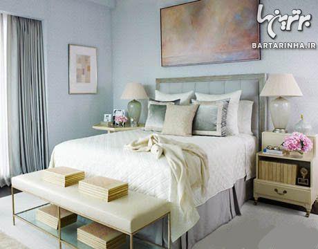 رنگ آمیزی ملایم اتاق خواب