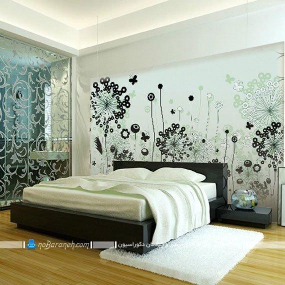 تزیین دیوار پشت تخت خواب با پوستر کومار
