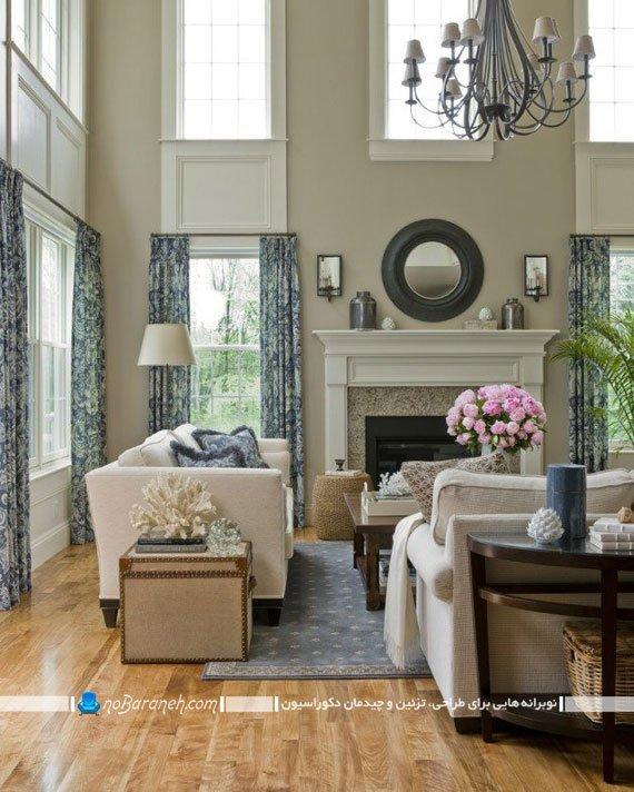 دیزاین کلاسیک در اتاق پذیرایی