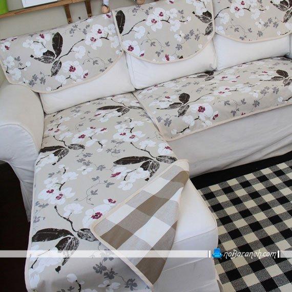 استفاده از روکش و پیراهن مبل طرحدار روی مبلمان ساده