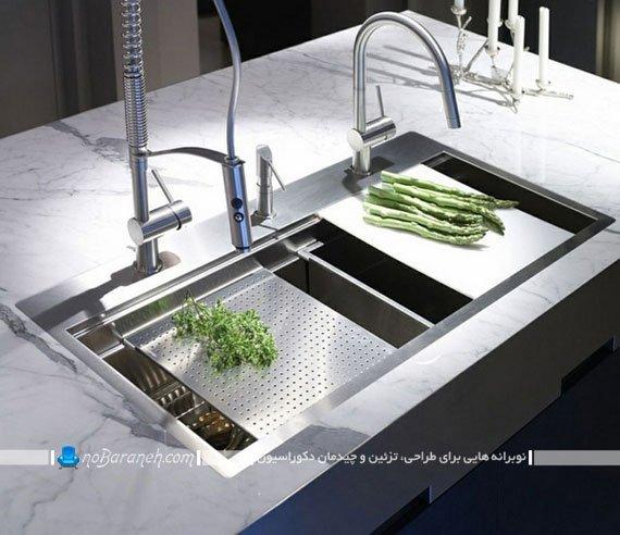 نصب دو شیر ظرفشویی روی سینک