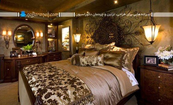 تخت خواب سلطنتی با تاج فرفورژه