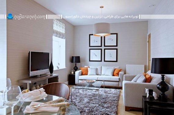 رنگ آمیزی اتاق پذیرایی و نشیمن کوچک