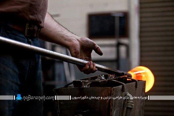 هنر شیشه گری در ساخت تزیینات دکوراسیونی