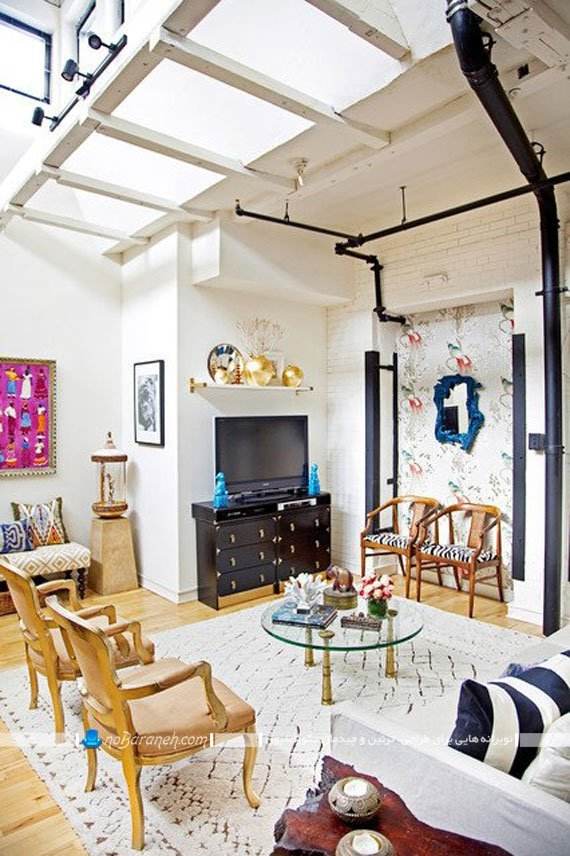 رنگ آمیزی ساده اتاق پذیرایی