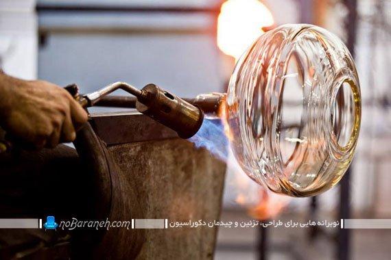 چراغ شیشه گری شده (3)