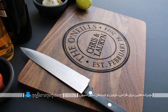 تخته گوشت چوبی کنده کاری شده