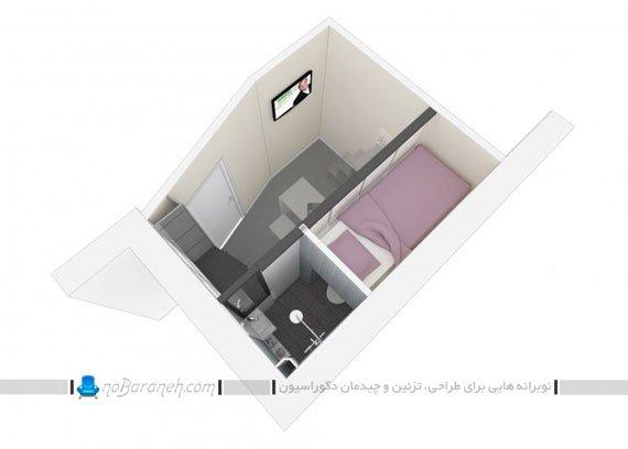 دکوراسیون و معماری اتاق خواب دانشجویی