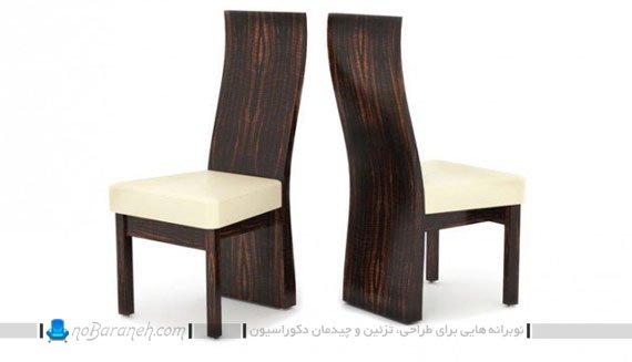 صندلی ناهارخوری چوبی و چرمی