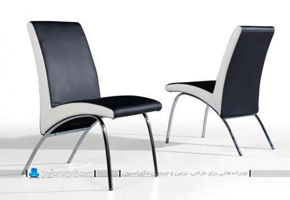 صندلی ناهارحوری ظریف و مدرن با پایه های استیل