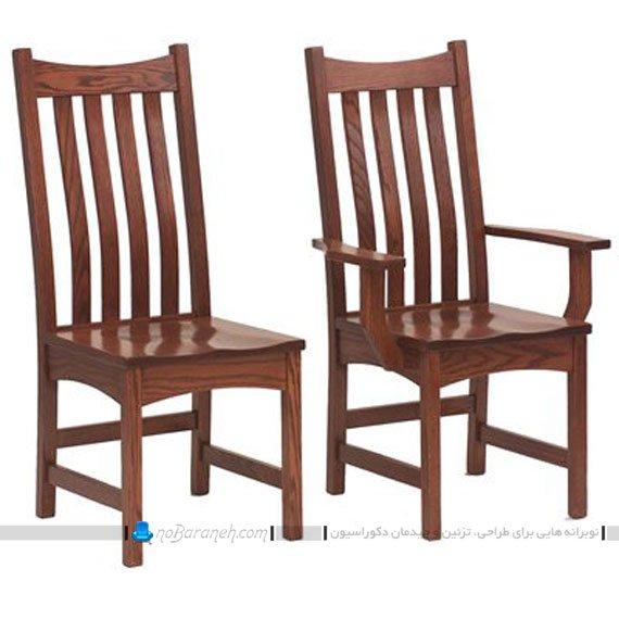 صندلی ناهارخوری کلاسیک دسته دار و بدون دسته