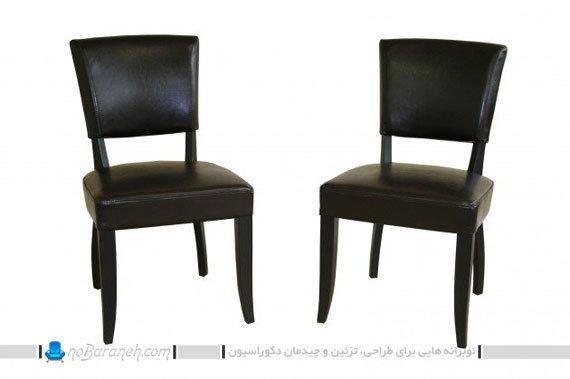 صندلی ناهارخوری تیره رنگ