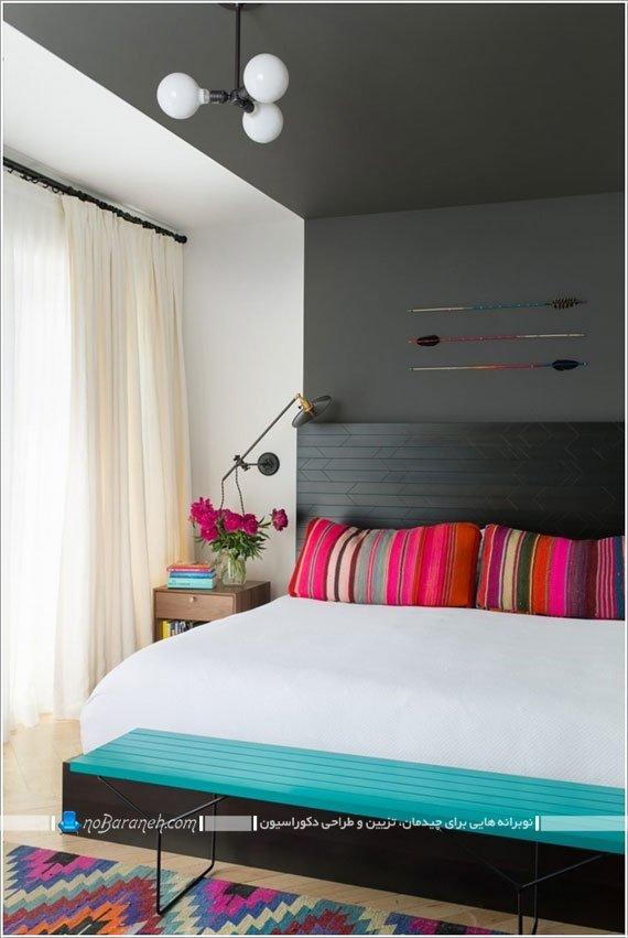 اتاق خواب دخترانه با رنگ بندی شاد