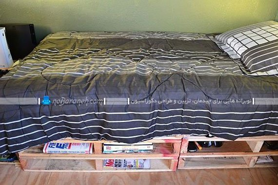 تخت خواب یک نفره چوبی